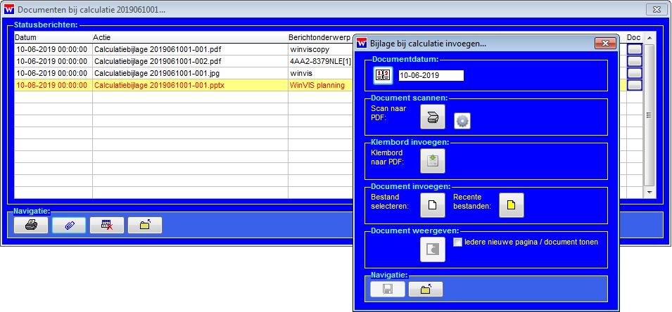 WinVIS calculatiebijlagen
