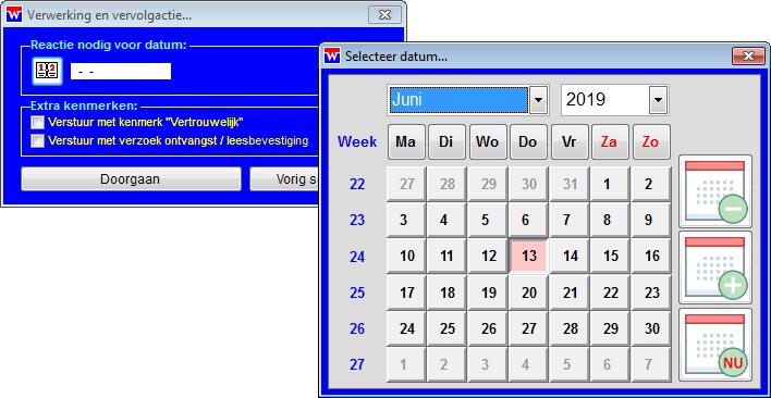 WinVIS e-mailverzending