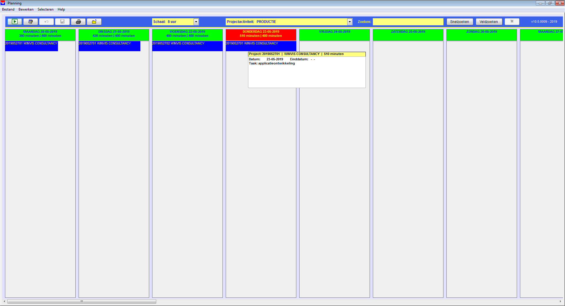 WinVIS planning
