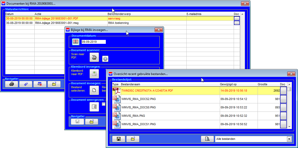 WinVIS RMA documentarchivering
